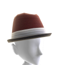 Banded Fedora - Maroon