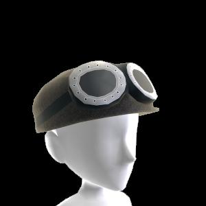 Gorra de paño y gafas
