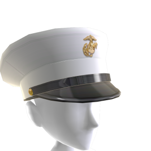 Marines Dress Blue Peaked Cap