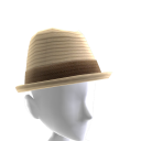 Banded Fedora - Natural