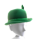 Green Bowler Hat