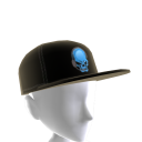 Epic Blue Gamer Skull Hat