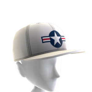 Air Force Stripes Hat - White