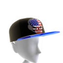 USA Gamer Skull Black Chrome Blue