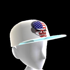 USA Gamer Skull White Chrome Silver