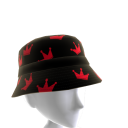 Red and Black KKZ Crown Bucket Hat