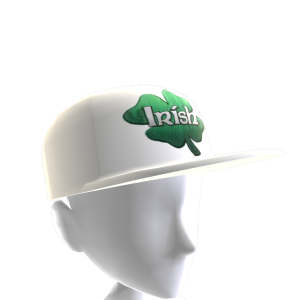 Epic St Pattys Clover Hat White 2