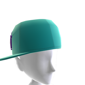 KKZ Teal & Purple Crown Fitted Hat