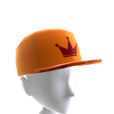 Orange & Maroon Crown Camo Snapback