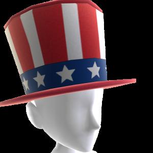 Sombrero de barras y estrellas