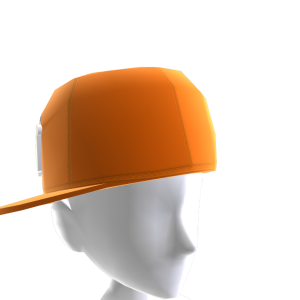 KKZ Orange & White Crown Fitted Hat
