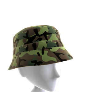 KKZ Green Camo Bucket Hat