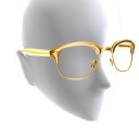 Half Frame Glasses - Gold