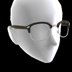 Half Frame Glasses - Black
