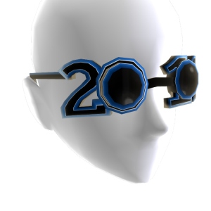 Happy New Year Blue Glasses