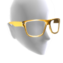 Square Glasses - Gold