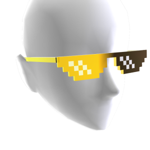 Gold Pixel Sunglasses