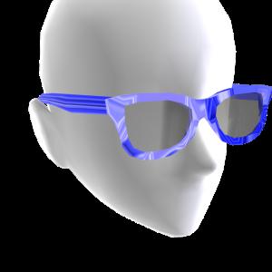 Sunglasses Blue Chrome Black Lenses