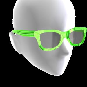 Sunglasses Green Chrome Black Lenses