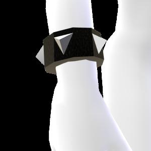 Black and Silver Spiked Bracelet