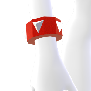 Red and White Spiked Bracelet
