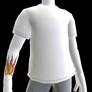 Flames Tattoo & T-Shirt white