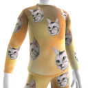 Epic Laser Cat Gold PJ Top