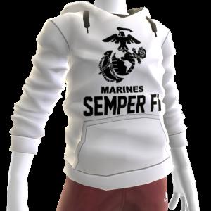 Marines Semper Fi Hoodie - White