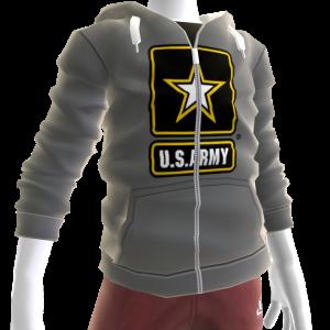 Army Zip Hoodie - Gray