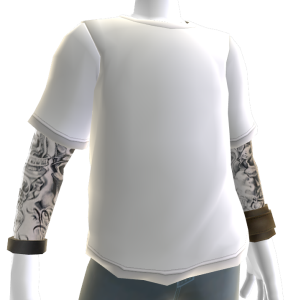 Baller Tee and Tattoos - White