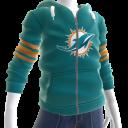 Dolphins Zip Hoodie