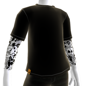Black Tattoo Sleeve with Black Shirt