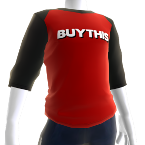 Buy This Raglan - White on Red