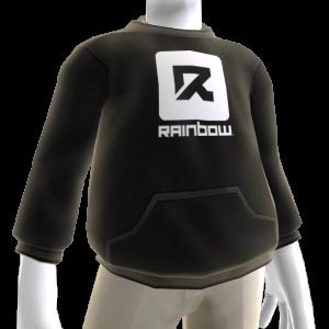 Sudadera con capucha Rainbow negra