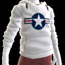 Air Force Stripes Hoodie - White