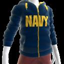 Navy Zip Hoodie - Blue