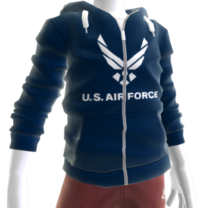 Air Force Zip Hoodie - Dark Blue