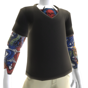 Black V-Neck With Tattoos