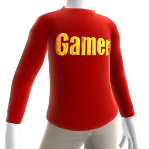 Red Gamer Gold LS Shirt