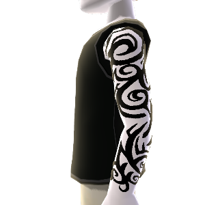 Pattern Tattoo & Shirt black