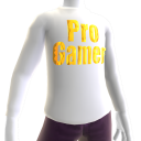 White Gold Pro Gamer LS Shirt