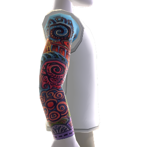 Right Sleeve Tattoos & Shirt white