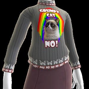 Grumpy Cat Sweater - Rainbow