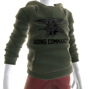 Navy Seals Going Commando Hoodie - Green