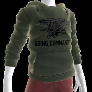 Navy Seals Going Commando Hoodie - Green