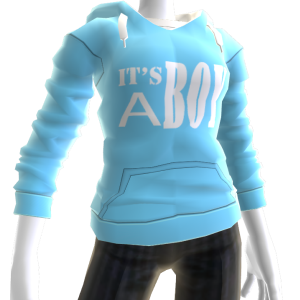 It's A Boy Hoodie - Blue