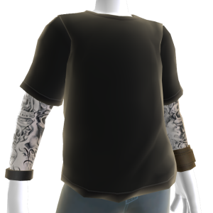 Baller Tee and Tattoos - Black