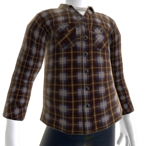 Regulate Flannel - Grey/Brown
