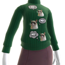 Grumpy Cat Sweater - Green