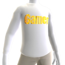 White Gamer Gold LS Shirt